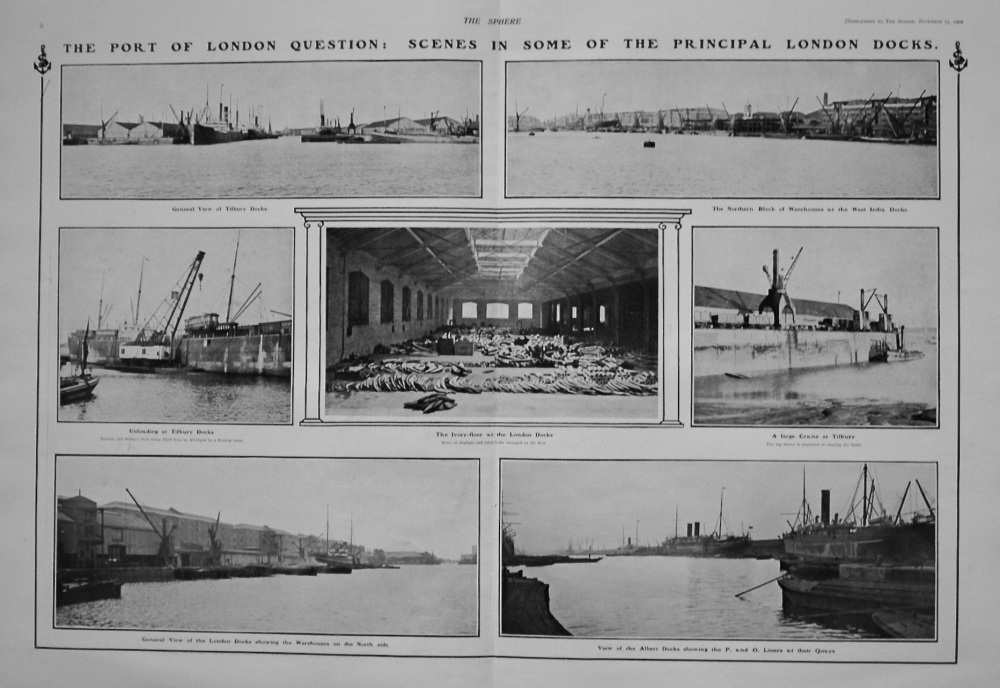 The Sphere, November 15th, 1902.  (Supplement) : Port of London - The Dock Aspect of the Question.