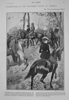 Fox-Hunting in the Southern States of America.- An Unconventional Meet. 1902