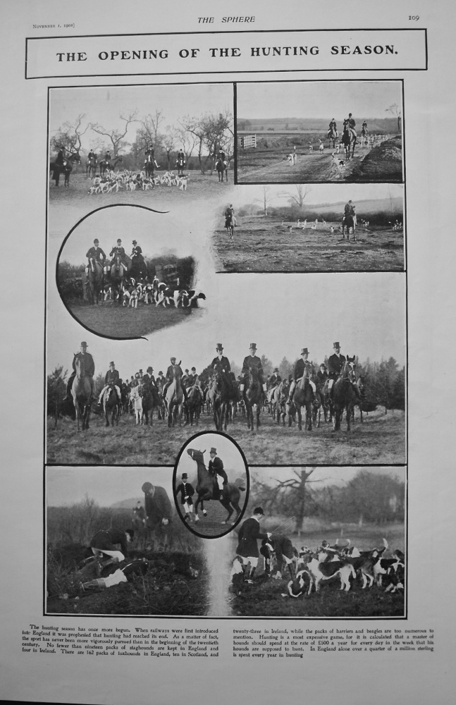 Opening of the Hunting Season. 1902.