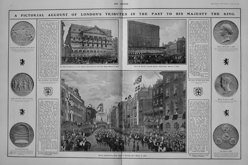 The Sphere, October 25th, 1902. (Supplement)  : The King's Visit to the City of London.