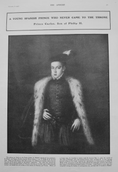 A Young Spanish Prince who Never came to the Throne. 1902