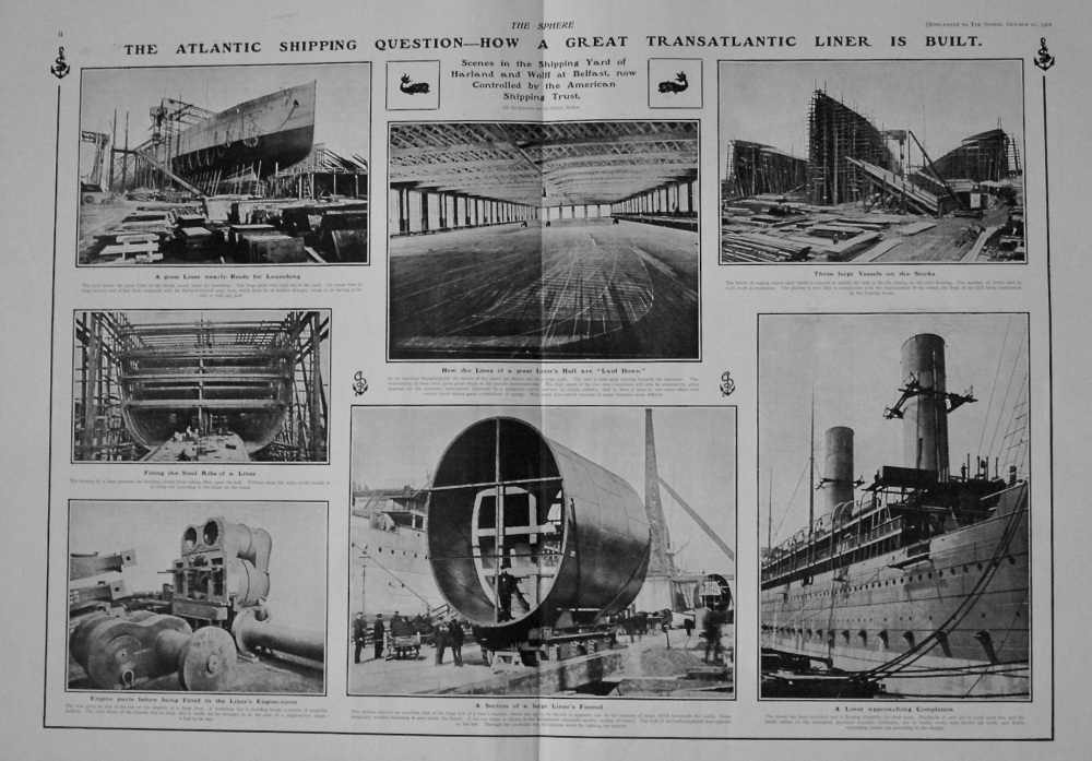 The Sphere, October 11th, 1902. (Supplement)  : The Great Atlantic Shipping Question.