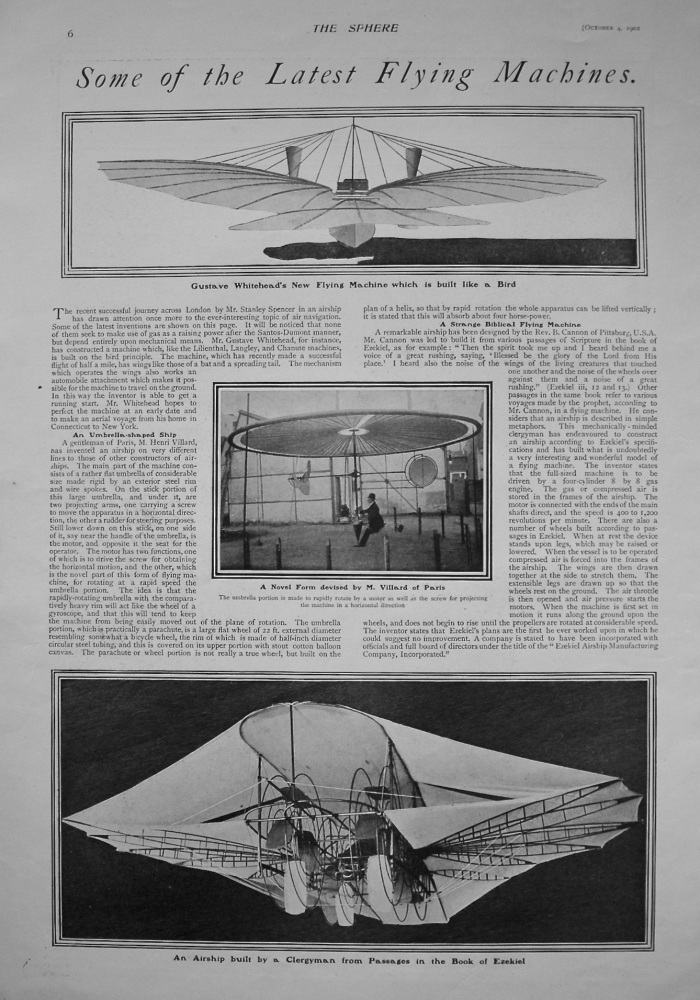 Some of the Latest Flying Machines. 1902