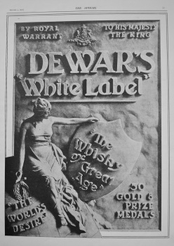 Dewar's 'White Label' Whisky. 1902