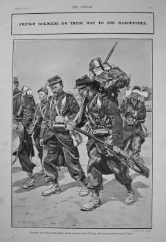 French Soldiers on their way to the Manoeuvres. 1902