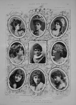 A Posy of English Beauties. 1892