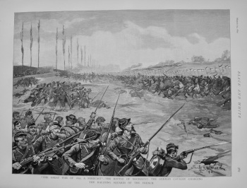"""The Great War of 1892, a Forecast"" - The Battle of Machault : the German Cavalry Charging the Rallying Squares of the French. 1892"