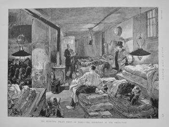 The Detective Police Force of Paris - The Dormitory at the Prefecture. 1892