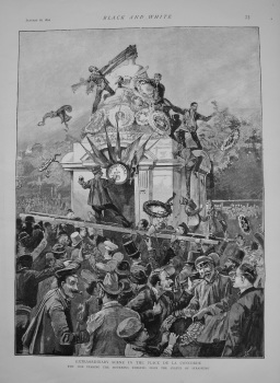 Extraordinary Scene in the Place De La Concorde. 1892