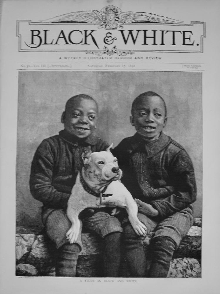 Black & White. February 27th, 1892.