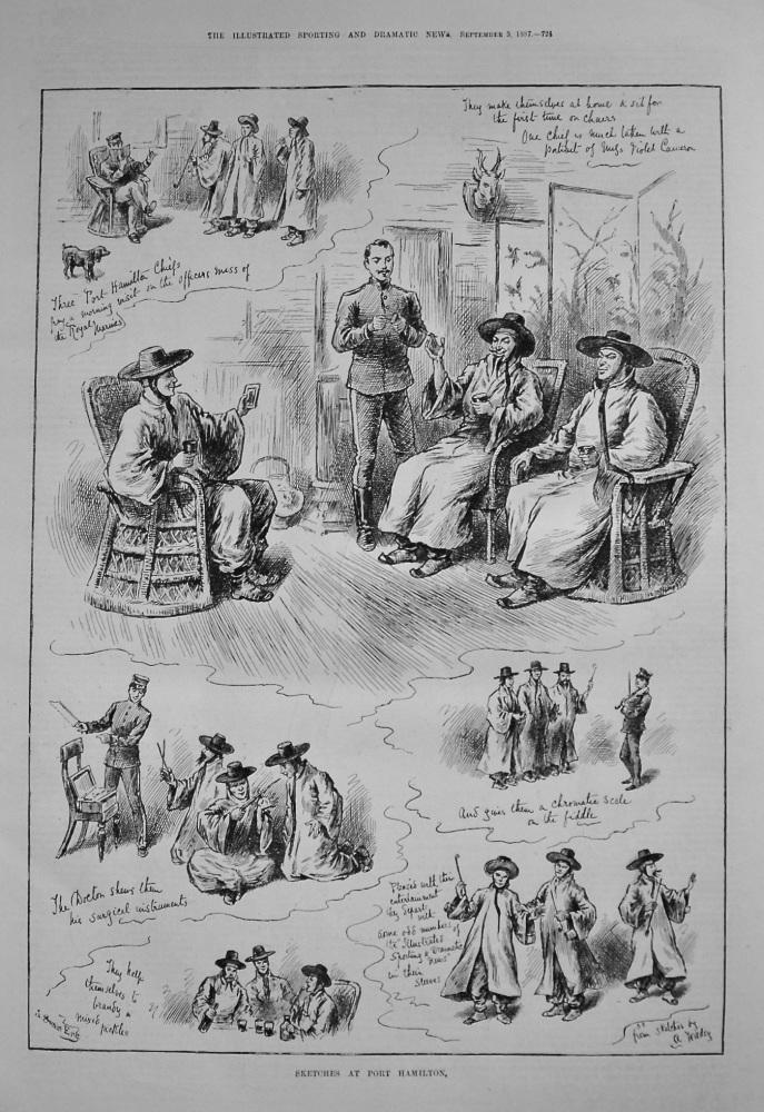 Sketches at Port Hamilton. 1887  (Islands)