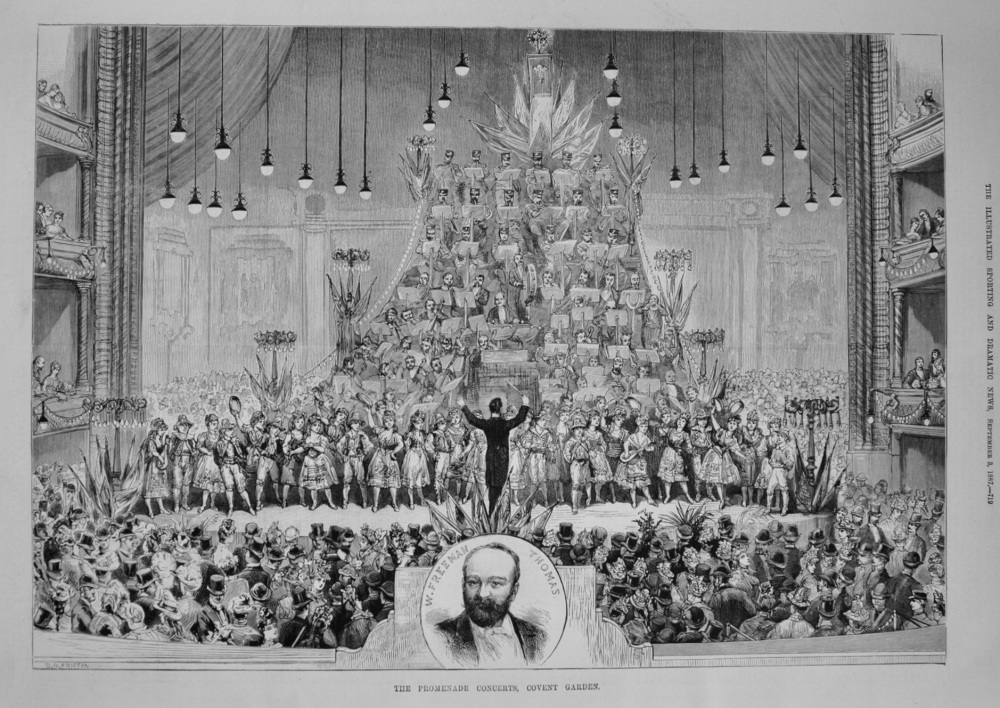 The Promenade Concerts, Covent Garden. 1887