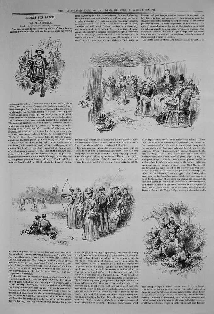 Sports for Ladies. No. VI.- Archery. 1887