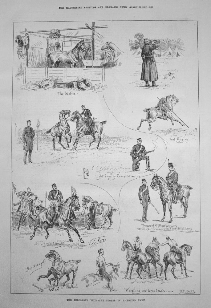 The Middlesex Yeomanry Sports in Richmond Park. 1887
