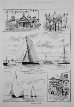 Yachting at Cowes. 1887