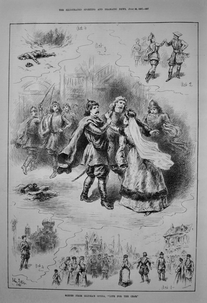 "Scenes from Glinka's Opera, ""Life for the Czar."" 1887"