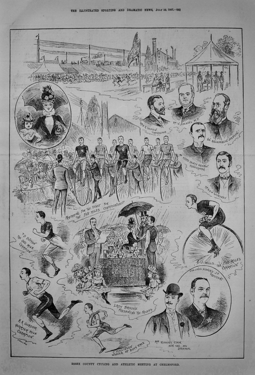 Essex County Cycling and Athletic Meeting at Chelmsford. 1887