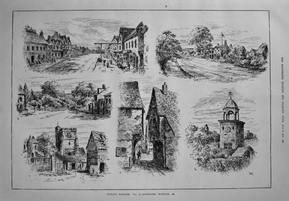 Cycling Rambles. No.8. -Edgware, Watford, &c. 1887