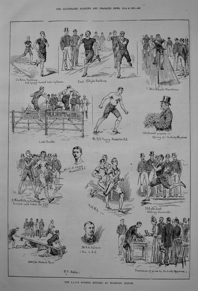 The L.A.C.'S Summer Meeting at Stamford Bridge. 1887