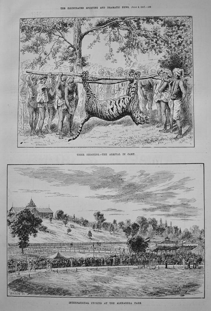International Cycling at the Alexandra Park. 1887