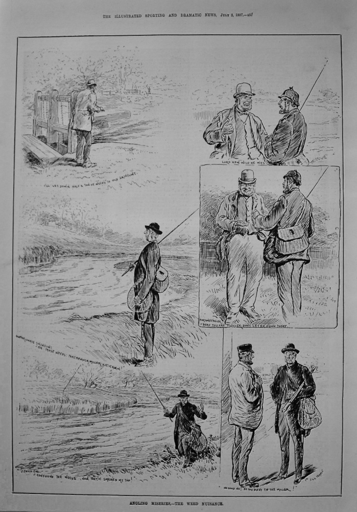 Angling Miseries.- The Weed Nuisance. 1887