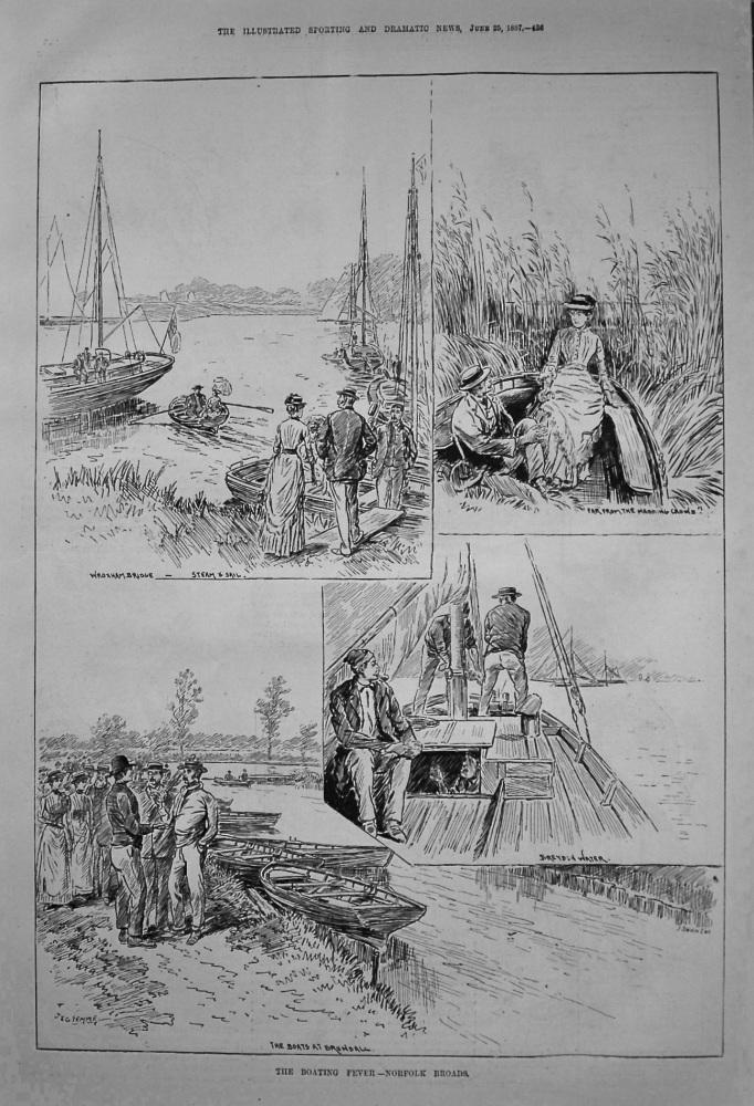 The Boating Fever.- Norfolk Broads. 1887