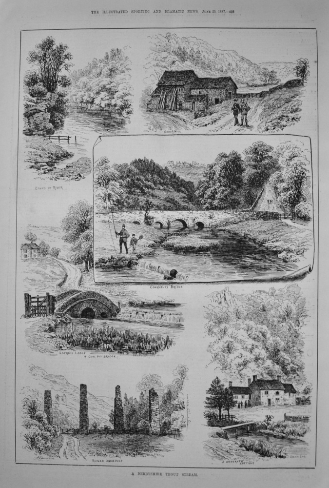 A Derbyshire Trout Stream. 1887