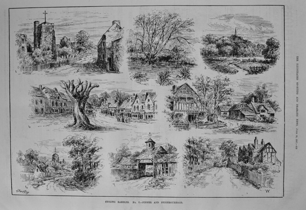 Cycling Rambles. No. 7.- Pinner and Neighbourhood. 1887