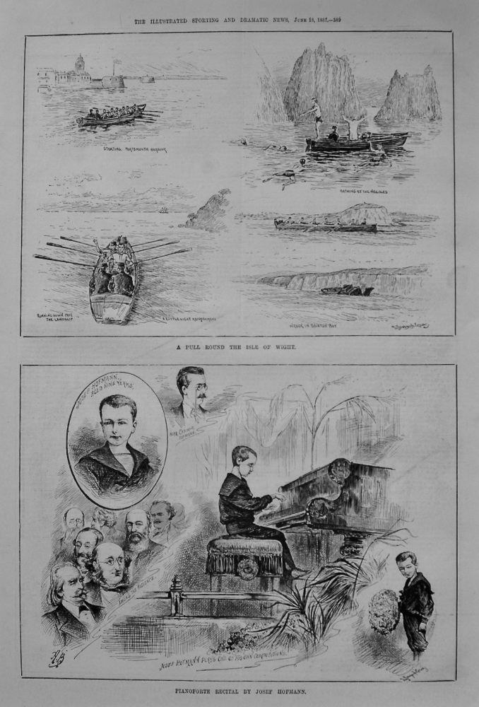 Pianoforte Recital by Josef Hofmann. 1887