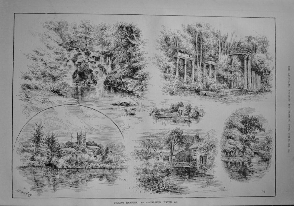 Cycling Rambles. No. 6.- Virginia Water. 1887