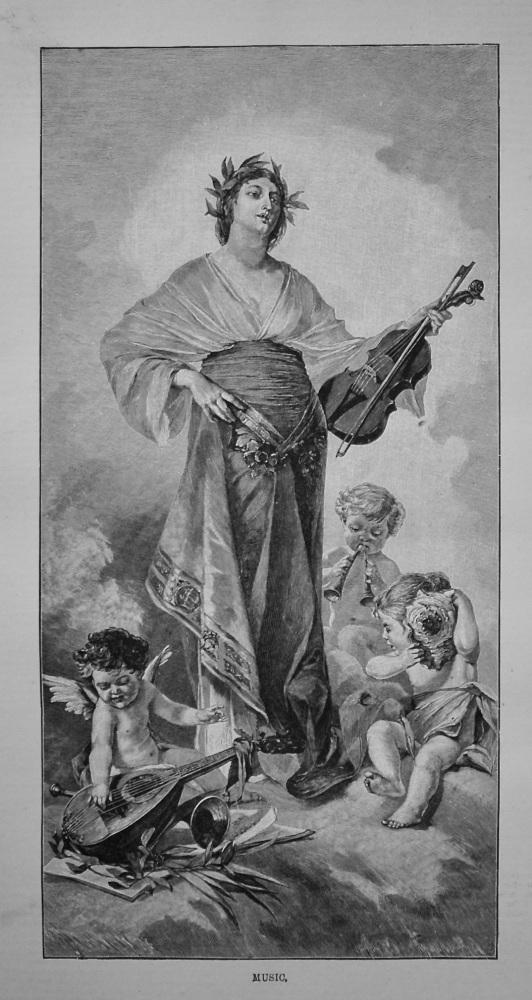 Music. (Engraving) 1887.