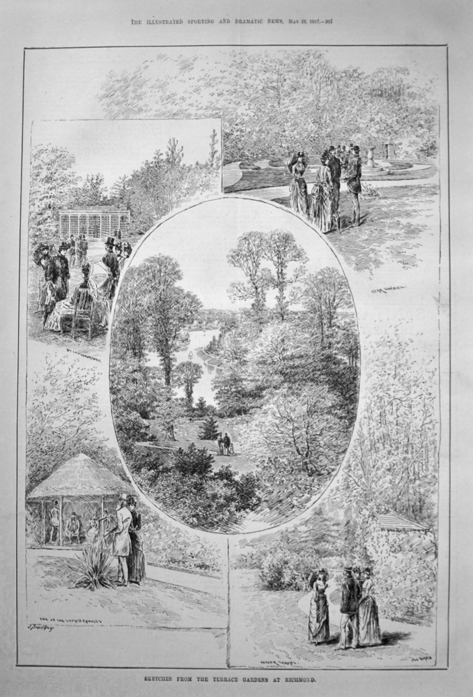 Sketches from the Terrace Gardens at Richmond. 1887