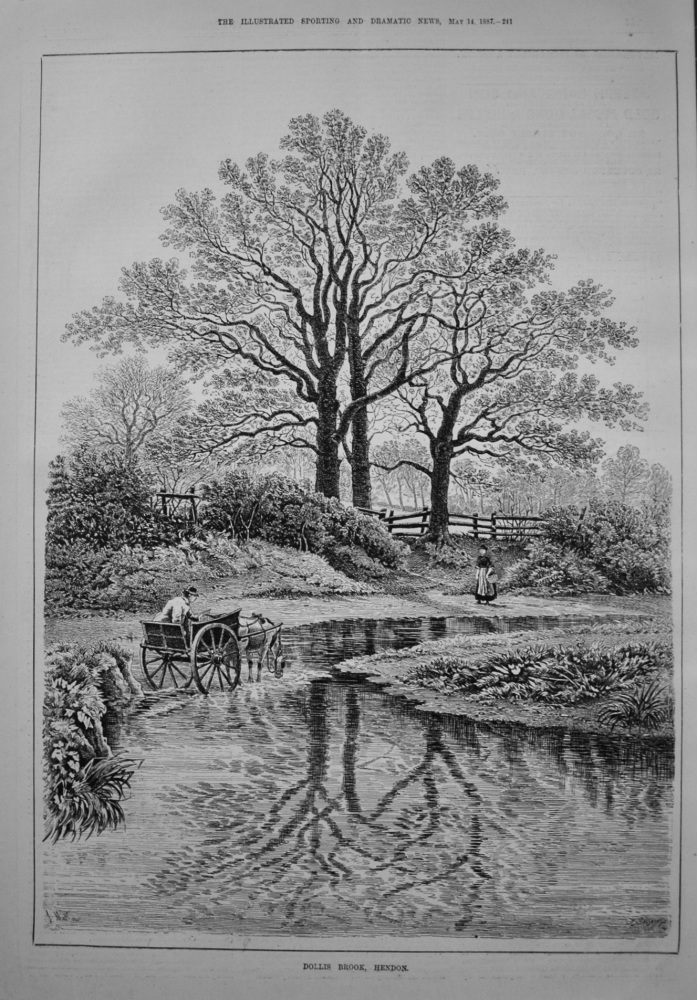Dollis Brook, Hendon. 1887