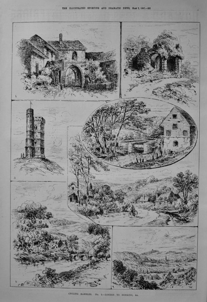Cycling Rambles. No. 2.- London to Dorking, &c. 1887