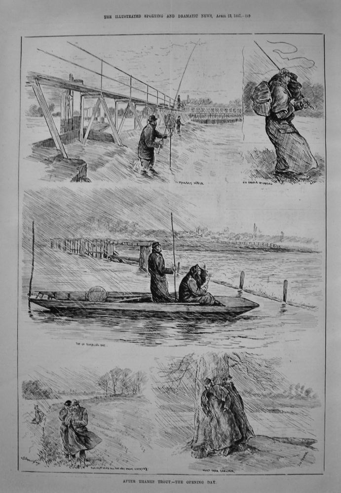 After Thames Trout.- The Opening Day. 1887
