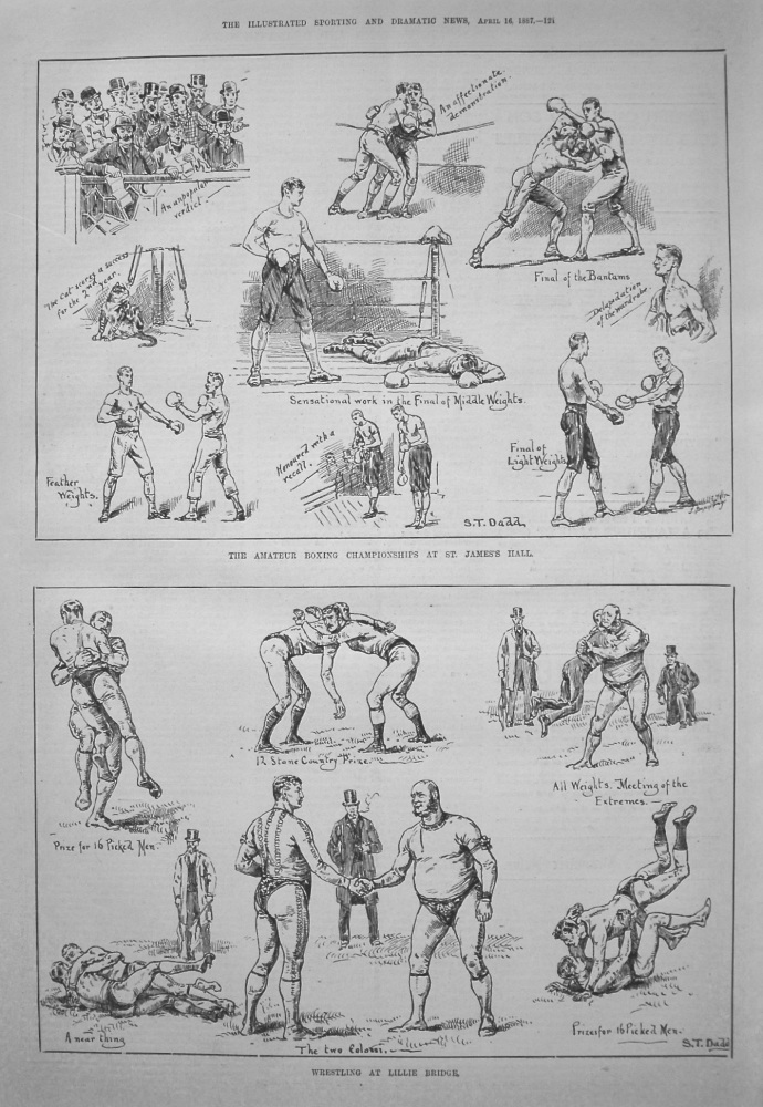 Amateur Boxing Championships at St. James's Hall. 1887