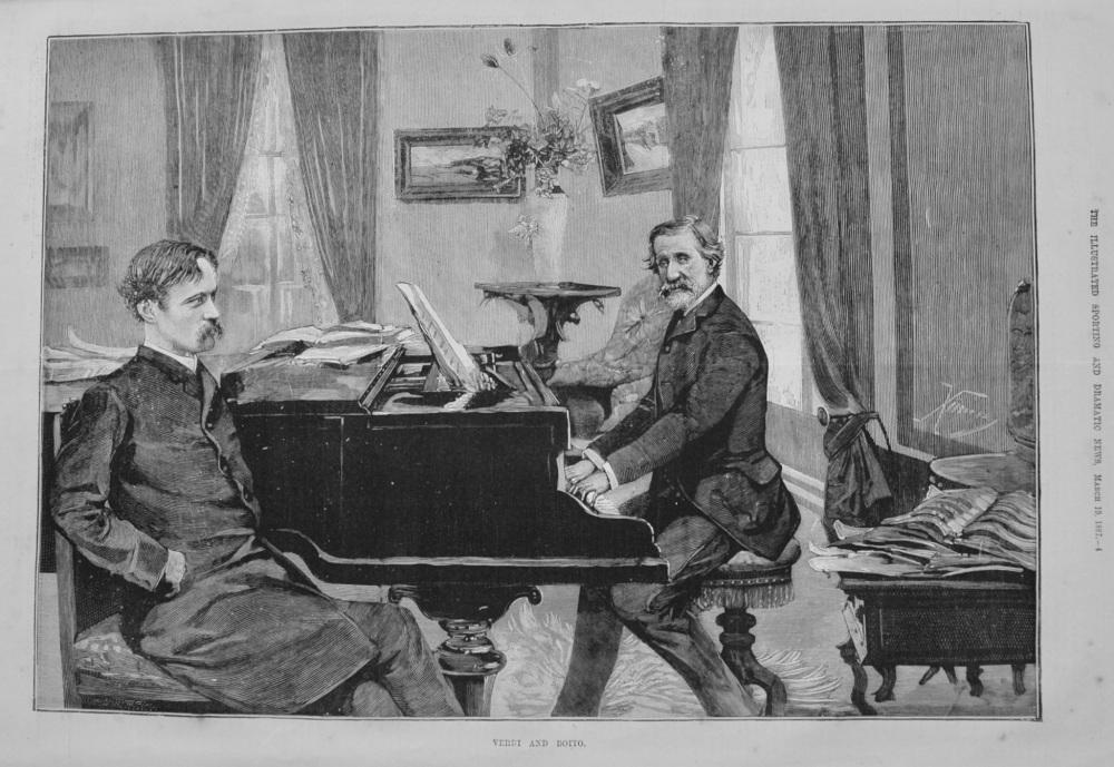 Verdi and Boito. 1887