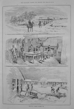 Training Stables.- Snowed Up. 1887