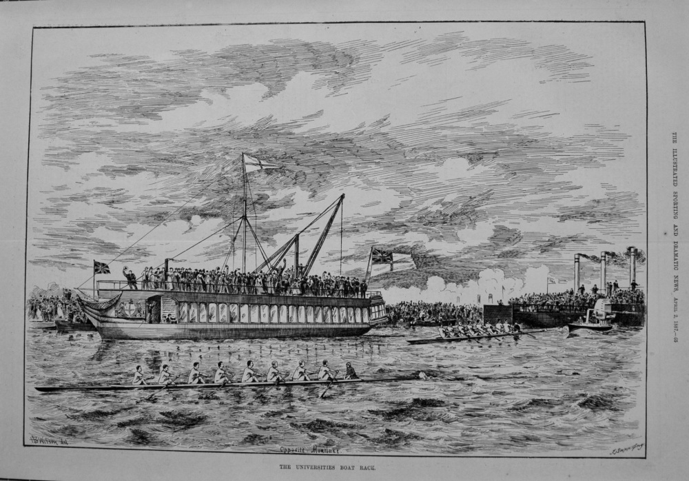 The Universities Boat Race. 1887
