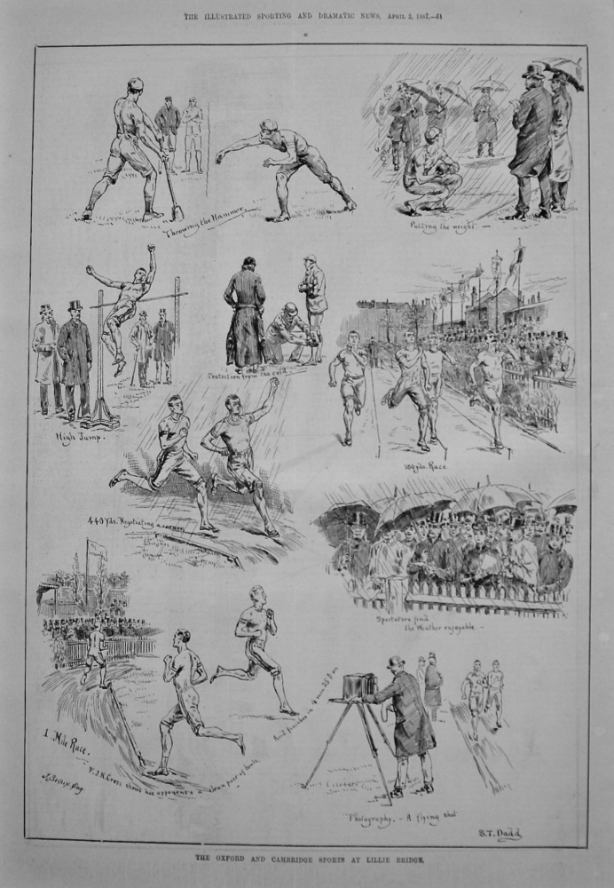 The Oxford and Cambridge Sports at Lillie Bridge. 1887