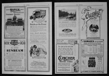 Motoring Adverts. 1916.