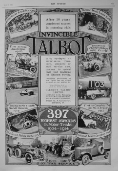 Clement Talbot Limited. 1916