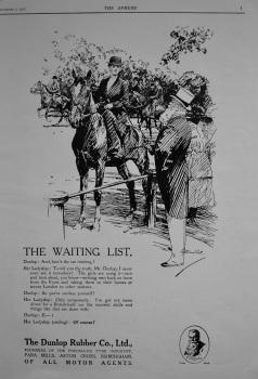 Dunlop Rubber Company. 1916