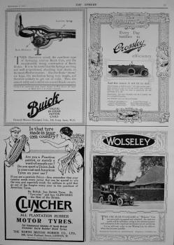Motoring Adverts. 1916