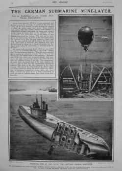 German Submarine Mine-Layer. 1916