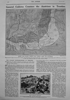 General Cadorna Counters the Austrians in Trentino. 1916