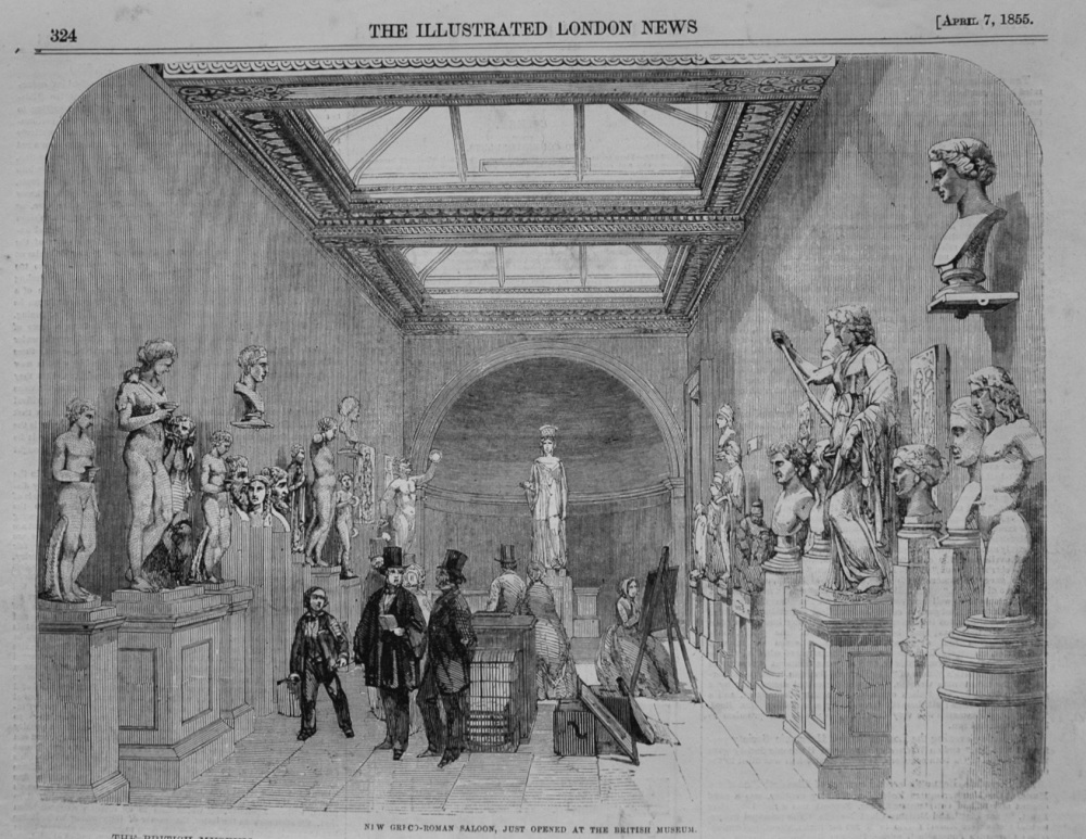 New Greco-Roman Saloon. just opened at the British Museum. 1855