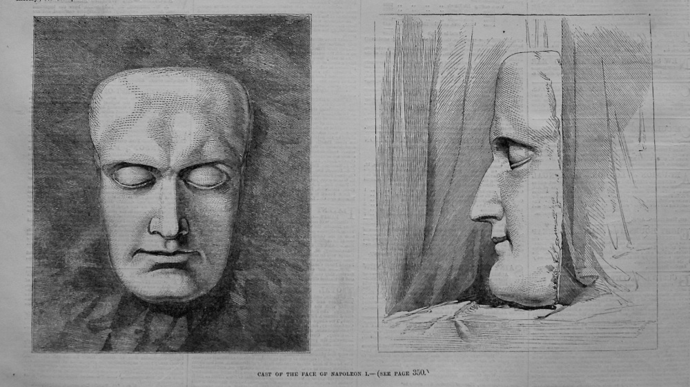 Cast of the Face of Napoleon I. 1855