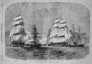 Baltic Fleet Leaving Spithead. 1855