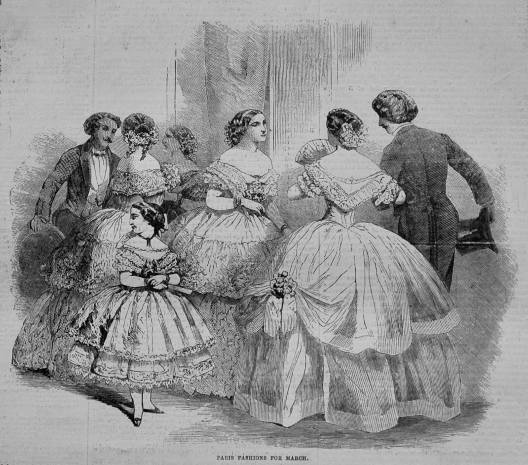 Paris Fashions for March 1855.